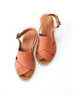 These sandals are so pretty Rachel Comey Tuscola Sandal- Tanned Suede Sock Shoes, Cute Shoes, Me Too Shoes, Shoe Boots, Leather Sandals, Shoes Sandals, Heels, Flat Sandals, Gladiator Sandals