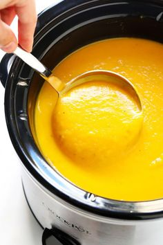 Healthy Meals The BEST Butternut Squash Soup recipe! It's a super cozy and delicious dinner recipe, and made with healthy, seasonal ingredients you can feel great about. Easy to make in the Instant Pot (pressure cooker), Crockpot, or on the stovetop. Crockpot Recipes For Two, Gourmet Recipes, Cooking Recipes, Fall Soup Recipes, Vegan Recipes, Healthy Fall Recipes, Healthy Fall Soups, Family Recipes, Thanksgiving Recipes Crockpot