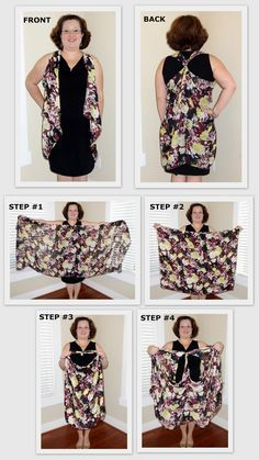 Make+a+Scarf+into+a+Vest | How to tie a scarf into a vest