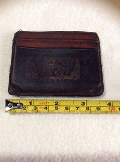 GANT Vintage Brown Leather Cardholder Id Wallet Wallet.