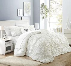 Amazon.com : french country bedrooms colors King Size Comforter Sets, King Size Comforters, Red Comforter, Floral Comforter, White Comforter Queen, White Ruffle Comforter, Luxury Comforter Sets, Bedroom Comforters, Queen Bedding