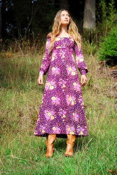 Long hippie dresses 60s