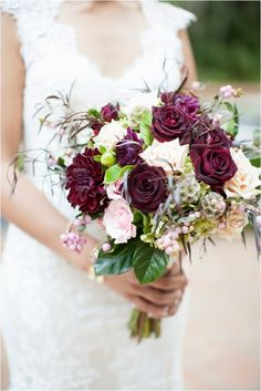 Paige: Love the different flowers/textures in this. Also this is more the colors I'd like to have in my bouquet.