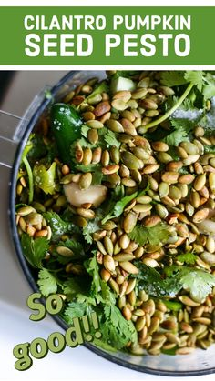 Herb Pesto Recipe, Recipes Using Pesto, Basil Pesto Recipes, Cilantro Recipes, Cilantro Pesto, Side Recipes, Veggie Recipes, Great Recipes, Keto Recipes