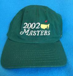 PGA Masters 2002 Golf Tournament Souvenir Hat Men's Cap Green