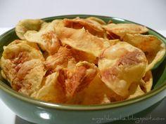 Fettfreie Kartoffelchips aus der Mikrowelle