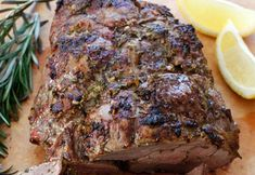 One of my favourite ways of cooking a Boneless Leg of Lamb is this absolutely delicious and easy recipe that I discovered in the. Goat Recipes, Roast Beef Recipes, Gourmet Recipes, Dinner Recipes, Savoury Recipes, Lamb Breast Recipe, Boneless Leg Of Lamb, Roast Lamb Leg, Food Lab
