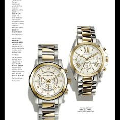 Michael kors watch silver and gold