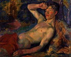 Enckell, Magnus (1870-1925) - 1914 Awakening Faun (Finnish National Gallery, Helsinki, Finland) by RasMarley, via Flickr