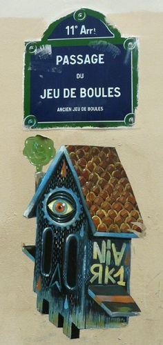 Street art, passage du Jeu-de-Boules  (Paris 11ème)