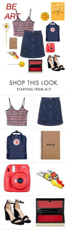 """aesthetic: feminist artist"" by wilddflowerxx ❤ liked on Polyvore featuring INDIE HAIR, Topshop, Fjällräven, Brika, Fuji, Nasty Gal and Kevyn Aucoin"