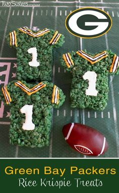 Check out 20 Rice Krispie Treats To Make Your Inner Child Sing | Green Bay Packers Rice Krispie Treats by Homemade Recipes at http://homemaderecipes.com/course/breakfast-brunch/rice-krispie-treats/