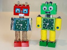 Recipes, Crafts and Activities Recycled Robot, Recycled Crafts, Crafts To Do, Crafts For Kids, Diy Crafts, Toddler Crafts, Preschool Crafts, Diy Robot, Bible School Crafts
