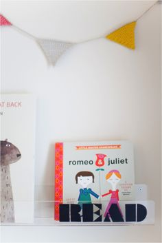 DIY message clear shelves for the nursery