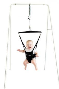 Convenient & Easy to Transport Rockers Stand - The Jolly Jumper on a Stand is a baby exerciser port-a-stand that is great for any child in the pre-walking stage. The Jolly Jumper helps your baby impro Camping With A Baby, Baby Rocker, Baby Bouncer, Baby Swings, Bouncers, Infant Activities, Baby Essentials, Baby Necessities, Nursery Organization