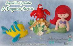 Mila Arts - moldes e PAP: Apostila Gratuita - A pequena sereia. Amei o pap dessa artesã. Nossa! Super bem explicado