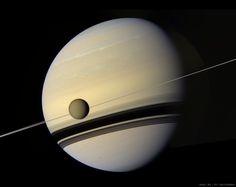 Titan before Saturn by Val Klavans - Exploring Space