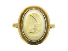Ancient Roman intaglio of Apollo, 2nd century BC-1st century AD, in a later ring.