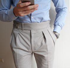 THE BASIC – Men's style, accessories, mens fashion trends 2020 Nigerian Men Fashion, Indian Men Fashion, Mens Fashion Suits, Fashion Pants, Men Trousers, Mens Dress Pants, Formal Men Outfit, Designer Suits For Men, Well Dressed Men