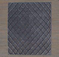 Diamante Flatweave Rug - Charcoal/Charcoal | Ben Soleimani for RH | Restoration Hardware