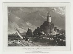 William Daniell 1769–1837 | The Long-ships Light House, off the Lands End, Cornwall From A Voyage Round Great Britain Date not known Aquatint on paper Dimensions: 162 x 241 mm Collection Tate