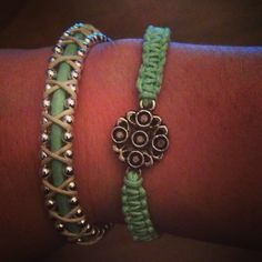 Diy bracelets with beads and nylon