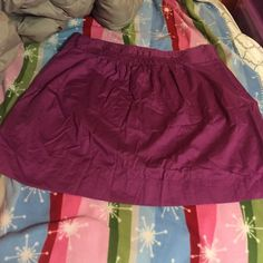 J. Crew purple skirt This is a reposh. I love this skirt, but I just have no use for it. It's got a side zipper and the front top has a nice small design. It's great to dress up or down! Size XL/14 J. Crew Skirts
