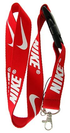 Sport Specialty Black with White Lettering Lanyard Keychain Holder