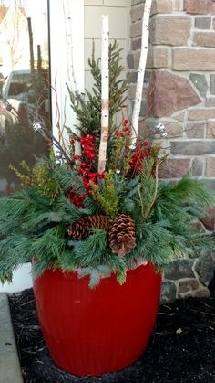 Christmas Makes, Christmas Holidays, Christmas Wreaths, Christmas Crafts, Christmas Decorations For The Home, Xmas Decorations, Holiday Decor, Christmas Planters, Christmas Arrangements