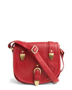 red leather crossbody handbag