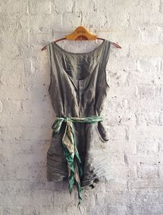 Linen playsuit. Fabric from #clothhouse