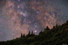 A Voyage into Cosmos, Liapades, Corfu Corfu, Canon Eos, Tripod, Cosmos, Ps, Northern Lights, Landscapes, Universe, Traditional