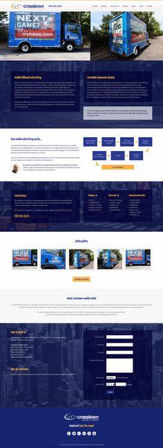 #Responsive One Page #webdesign with ScrollReveal.js effects and jump menu for Crosstown Mobile Media   (Huntsville, AL). Custom built on #Joomla 3 CMS. #webdesign #customdesign #onepage #modern #inspiration #creative #landingpage #template #theme #business #corporate #portfolio #agency