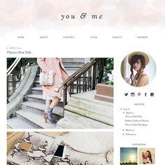 you & me - A clean, pastel colour template for Blogger/Blogspot
