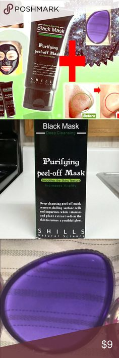 Bundle! One Shills Black Mask + two Silicone Spong This offer is for: - x1  Black Mask &  x1 Silicone Sponge.           With legions of fans, the FAMOUS & 100% GENUINE black peel-off mask from Shills is here. The ORIGINAL Shills Deep Cleansing Purifying Peel-Off Black Face Mask has earned its superstar status by being the ultimate blackhead-buster. Specially-formulated to unblock clogged pores by peeling blackheads, dirt and spot-causing bacteria away. Activated bamboo charcoal acts like a…