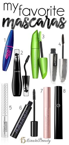 The best mascaras for length and volume!  Great mix of high end and drugstore mascaras.
