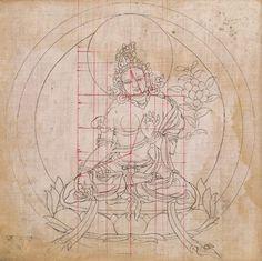 『チベット仏教の人体比率図』18世紀 http://publicdomainreview.org/collections/tibetan-book-of-proportions/… 仏や菩薩を描くための比率を印した36種の図が公開された。西洋の黄金比にも劣らぬ、高度な比率規定が東洋にもあったことを意味する。とてつもなく貴重な史料。 pic.twitter.com/5VzthfZola