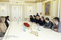 Pin for Later: The Kardashians Cause Major Mayhem After Touching Down in Armenia  Kim and Khloé met with the Armenian prime minister.