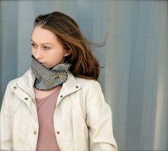 Fashion Cowl Neck Warmer / Grey Wool Fabric Cowl by Accessodium, $55.00