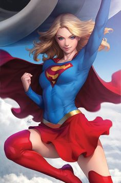 """DC Comic Book Artwork • Supergirl By Stanley """"Artgerm"""" Lau. Follow us for more awesome comic art, or check out our online store www.7ate9comics.com"""