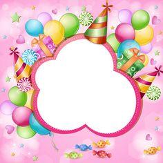 Happy Birthday Frame, Birthday Frames, Happy Birthday Images, Birthday Greetings, Birthday Wishes, Birthday Cards, Kids Background, Birthday Background, Birthday Photo Frame