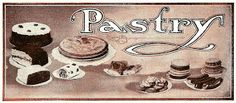 Antique Images: Free Recipe Label Design: Vintage Recipe Label Frosting and Pastry