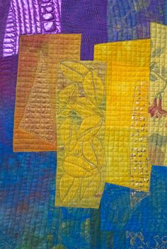 close up, Art quilt by Ineke van Unen-Wingelaar (The Netherlands)