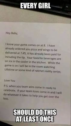 If a guy does this for me during hockey season, I might be the one proposing to him...