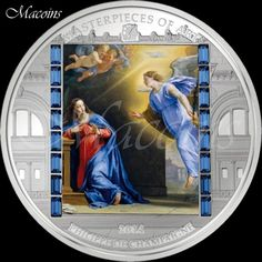 MASTERPIECES OF ART 2014: ANNUNCIATION 20$ Cook Islands 3oz Silver Coin