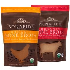 At last you can enjoy delicious real bone broth, also known as stock, traditionally prepared with organic ingredients, and ready for use whenever you need it. Buy organic real bone broth online and have these nutritious broths shipped frozen straight to your home. Free shipping on most orders!