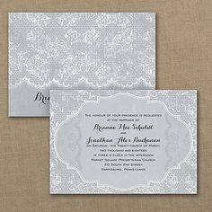 Rustic Lace - Invitation Even when you're having a rustic wedding, it's still all about the lace. This lace design wedding invitation printed in your choice of colors to dress up your rustic day. Barn Wedding Invitations, Lace Invitations, Wedding Invitation Design, Invites, Invitation Ideas, Rustic Wedding, Lace Wedding, Dream Wedding, Wedding Day