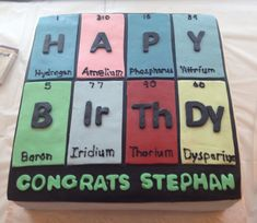 periodic table cakes - Google Search