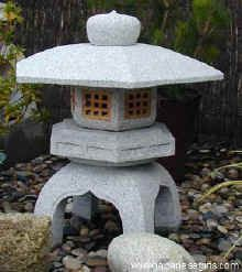 """Yukimi Granite Lantern - Also known as the """"snow viewing lantern,"""" a very popular addition for tranquil gardens."""