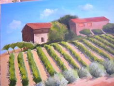"""""""Vineyard in Chianti"""" Original Oil/canvas 24""""x18"""" interior measure Available through VISUAL EXPANSION GALLERY 126 N. HIGH STREET W. CHESTER, PA 610-436-8697  Giclee print-$85.00 Free shipping: 2015"""
